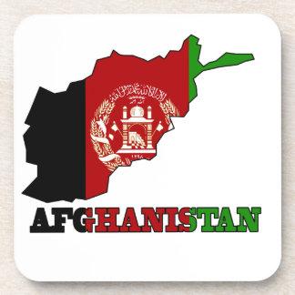 Bandera en el mapa de Afganistán Posavasos