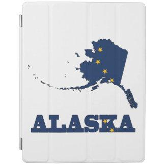Bandera en el mapa de Alaska Cubierta De iPad