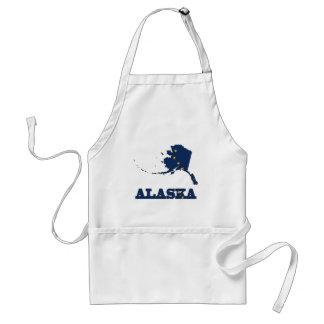 Bandera en el mapa de Alaska Delantal