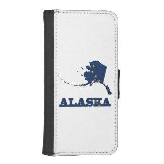 Bandera en el mapa de Alaska Funda Tipo Cartera Para iPhone 5