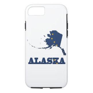 Bandera en el mapa de Alaska Funda iPhone 7