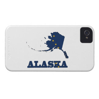 Bandera en el mapa de Alaska Funda Para iPhone 4 De Case-Mate