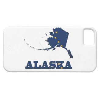 Bandera en el mapa de Alaska Funda Para iPhone SE/5/5s