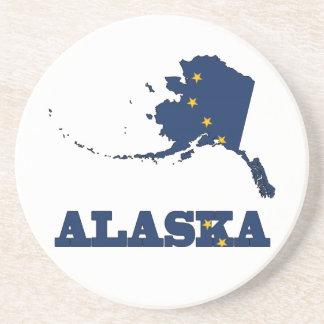 Bandera en el mapa de Alaska Posavasos Diseño