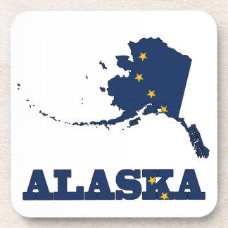 Bandera en el mapa de Alaska Posavasos De Bebidas