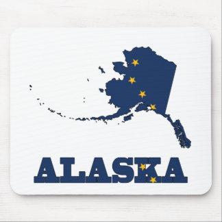 Bandera en el mapa de Alaska Tapete De Raton