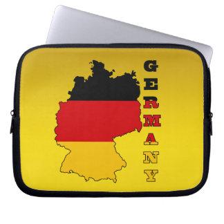 Bandera en el mapa de Alemania Funda Portátil