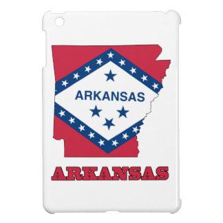 Bandera en el mapa de Arkansas