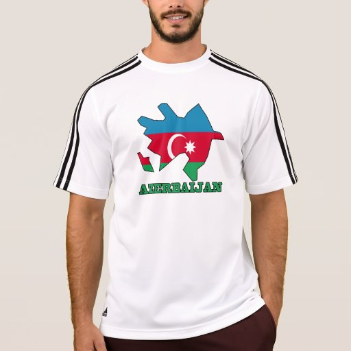 Bandera en el mapa de Azerbaijan Playeras