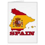 Bandera en el mapa de España Felicitaciones
