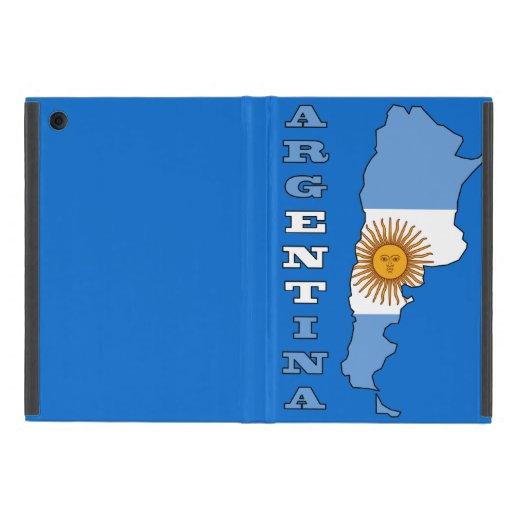 Bandera en el mapa de la Argentina iPad Mini Fundas