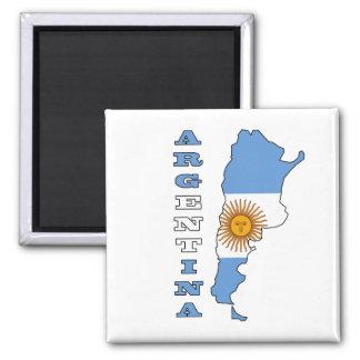 Bandera en el mapa de la Argentina Imán De Nevera