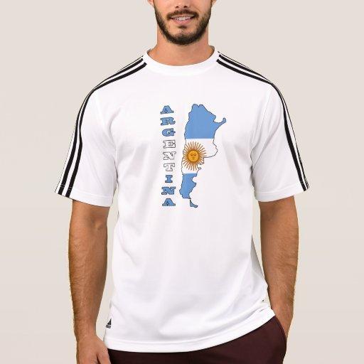 Bandera en el mapa de la Argentina Tee Shirt