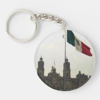 Bandera en el Zocalo DF Double-Sided Round Acrylic Keychain