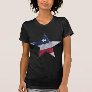 Bandera en estrella remeras