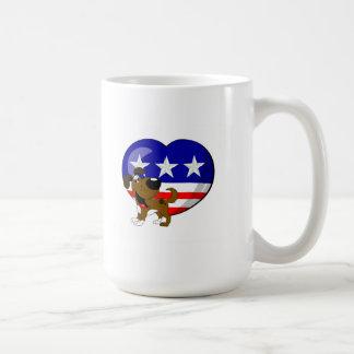 Bandera en forma de corazón de los E.E.U.U. Taza De Café