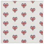 Bandera en forma de corazón de Union Jack Telas