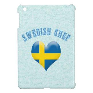 Bandera en forma de corazón del cocinero sueco de