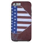 Bandera en la forma del corazón pintada en granero funda para iPhone 6 tough