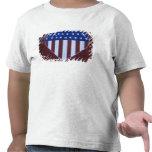 Bandera en la forma del corazón pintada en granero camiseta
