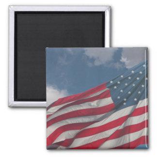 Bandera en las nubes imán para frigorífico