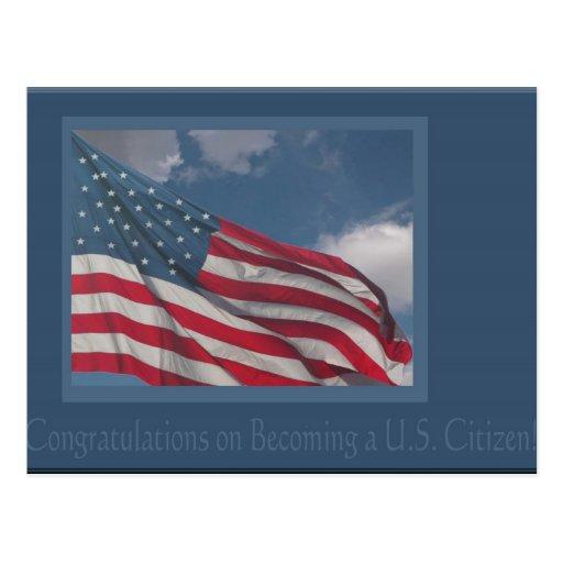 Bandera en las nubes/la enhorabuena en hacer un U Postal