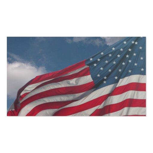 Bandera en las nubes tarjeta de negocio