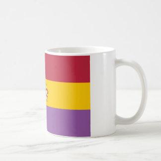 Bandera en segundo lugar española de la república  tazas de café