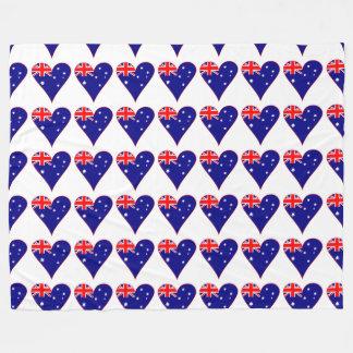 Bandera enrrollada del corazón de Australia con la Manta De Forro Polar