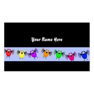 Bandera enrrollada del pájaro, su nombre aquí tarjetas de visita