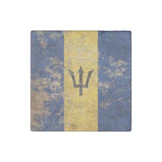 Bandera envejecida áspera de Barbados del vintage Imán De Piedra