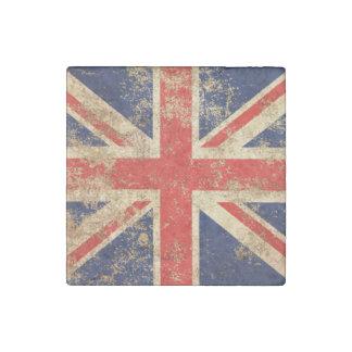 Bandera envejecida áspera de Británicos del Imán De Piedra