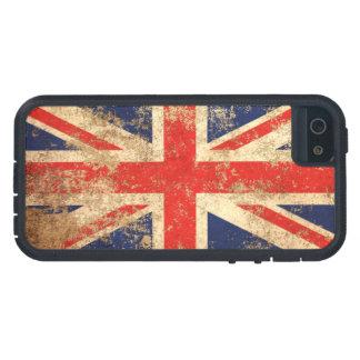 Bandera envejecida áspera de Británicos del iPhone 5 Funda