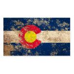 Bandera envejecida áspera de Colorado del vintage Tarjeta De Visita