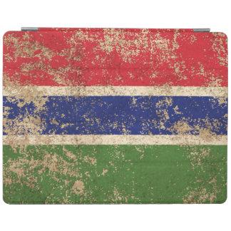 Bandera envejecida áspera de gambiano del vintage cubierta de iPad