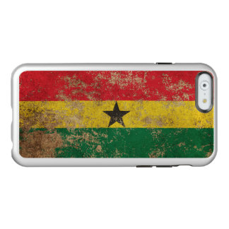 Bandera envejecida áspera de Ghana del vintage Funda Para iPhone 6 Plus Incipio Feather Shine