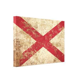 Bandera envejecida áspera de Irlanda del Norte del Lona Envuelta Para Galerías