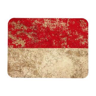 Bandera envejecida áspera de Mónaco del vintage Iman De Vinilo