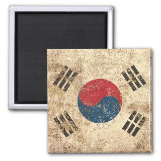Bandera envejecida áspera de sudcoreano del imán de frigorífico