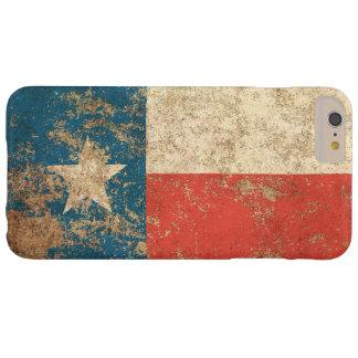 Bandera envejecida áspera de Tejas del vintage Funda De iPhone 6 Plus Barely There