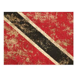 Bandera envejecida áspera de Trinidad and Tobago Postal