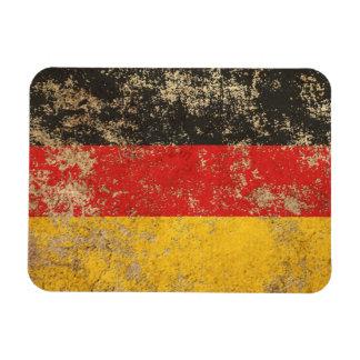 Bandera envejecida áspera del alemán del vintage iman