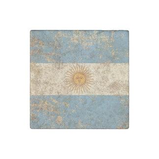 Bandera envejecida áspera del argentino del imán de piedra