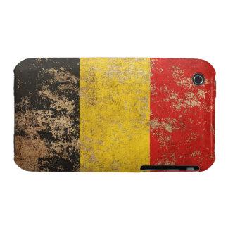 Bandera envejecida áspera del belga del vintage iPhone 3 funda