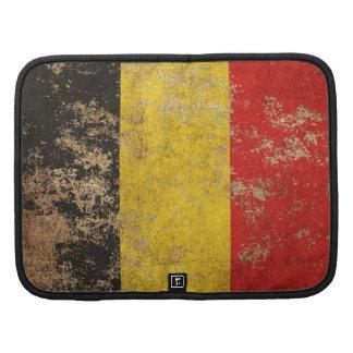 Bandera envejecida áspera del belga del vintage organizador