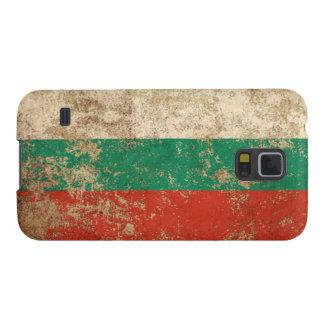 Bandera envejecida áspera del búlgaro del vintage carcasa para galaxy s5