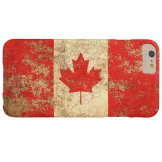 Bandera envejecida áspera del canadiense del funda para iPhone 6 plus barely there