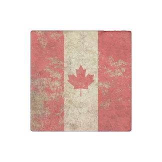Bandera envejecida áspera del canadiense del imán de piedra