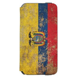 Bandera envejecida áspera del Ecuadorian del Funda Billetera Para iPhone 6 Watson