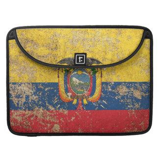 Bandera envejecida áspera del Ecuadorian del Funda Macbook Pro